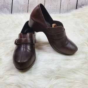 Dansko nursing clogs brown leather size 11 euro 41